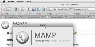 Création d'un modèle WordPress - capture d'écran