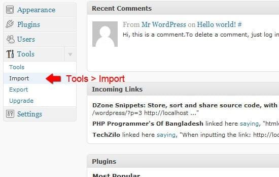 Importation d'outils.
