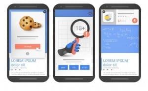 Google accepte les interstitiels responsables