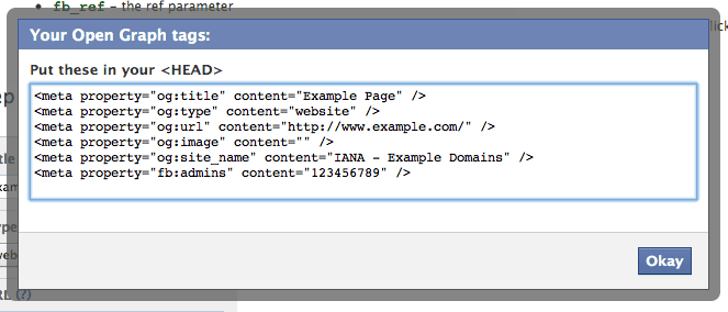 Facebook Open Graph Tags