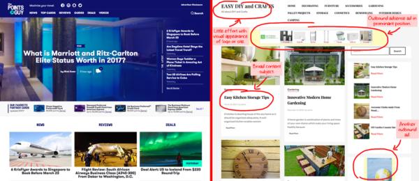 Exemple mise à jour Google Fred The Points Guy Vs Easy Bricolage et Artisanat