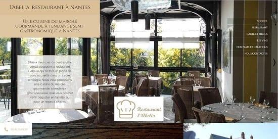 Image d'un site web du restaurant: Abelia restaurant Nantes