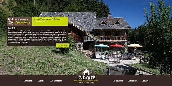 Image d'un site de restaurant: L'Aubergerie restaurant et chambre d'Hôte La Ferrière
