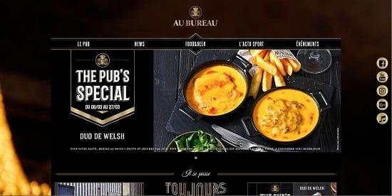 Image d'un site de restaurant: Au Bureau Chambery