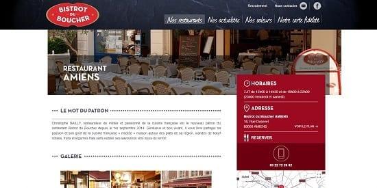 Image d'un site web du restaurant: Bistrot du Boucher Amiens