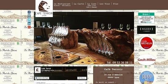 Image d'un site de restaurant: Café Terroir Lyon Restaurant, Bistrot & Rotisserie