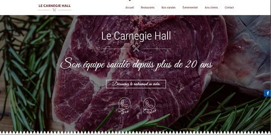 Image d'un site de restaurant: Restaurant de viande Carnegie Hall Corbas