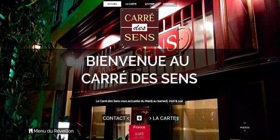 Image d'un site de restaurant: Carre des Sens Chambery