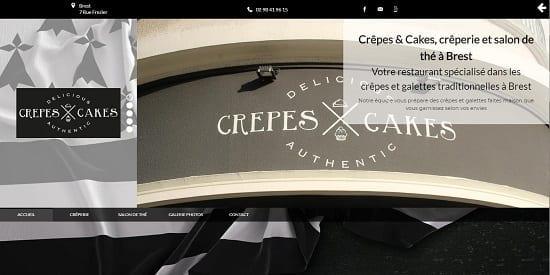 Image d'un site de restaurant: Creperie Crepes Cakes Brest