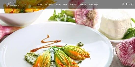 Image d'un site web du restaurant: Vincent Croizard à Nimes