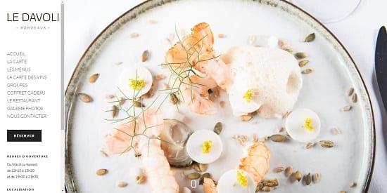 Image d'un site de restaurant: Davoli à Bordeaux