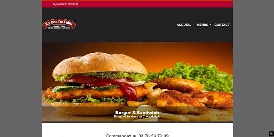 Image d'un site de restaurant: Fast Food encas de faim Grenoble