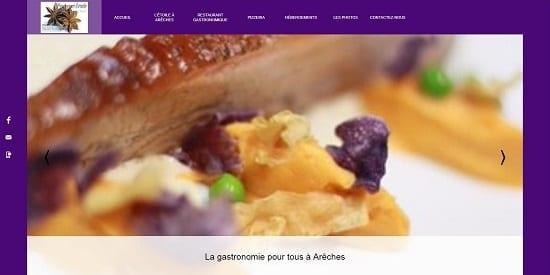 Image d'un site de restaurant: L'étoile Arêche sur Beaufort