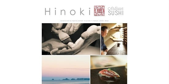 Image d'un site web du restaurant: Hinoki Brest
