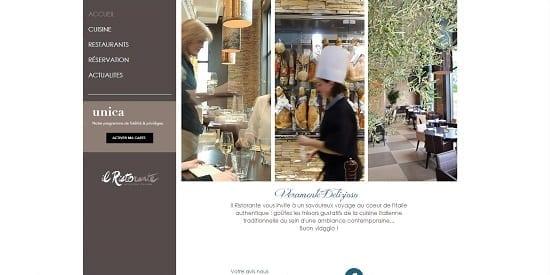 Image d'un site de restaurant: Restaurant italien à tours
