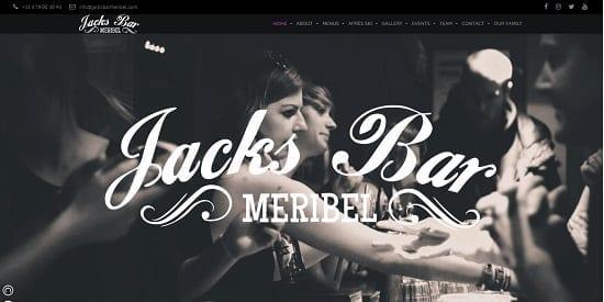 Image d'un site de restaurant: Jacks Bar Meribel
