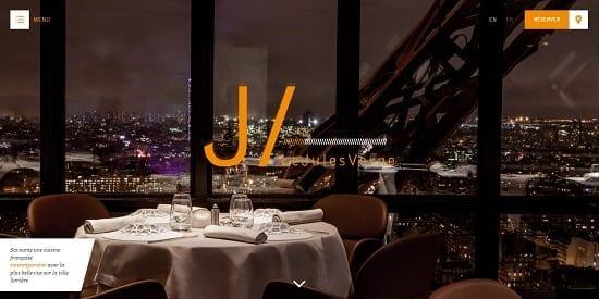 Image d'un site de restaurant: Jules Verne Paris