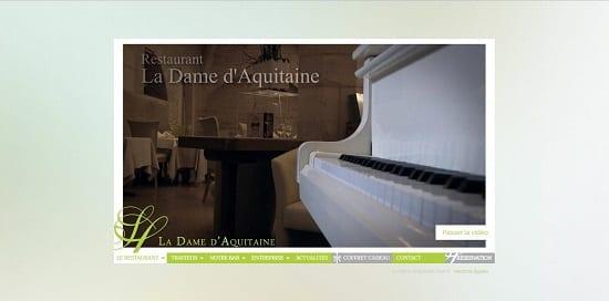 Image d'un site web de restaurant: La dame d'acquitaine à Dijon