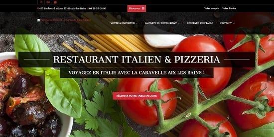 Image d'un site de restaurant: Restaurant Italien Pizzeria La Caravelle Aix les Bains
