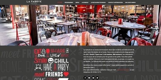 Image d'un site web du restaurant: La Fabryk à Lyon