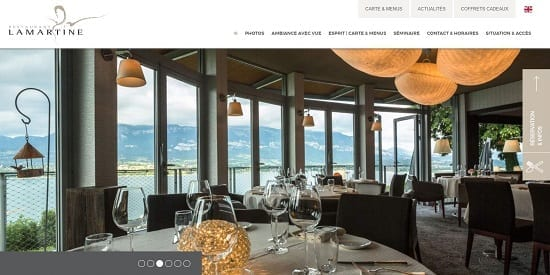 Image d'un site de restaurant: Lamartine Bourget du Lac