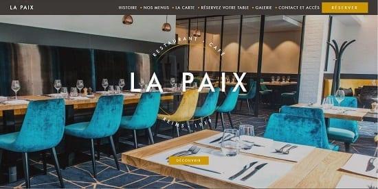 Image d'un site de restaurant: La Paix à Reims