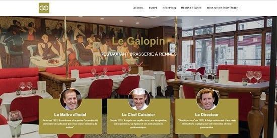 Image d'un site de restaurant: Galopin Rennes