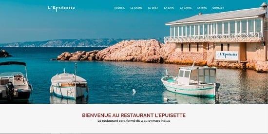 Image d'un site de restaurant: L'épuisette à Marseille