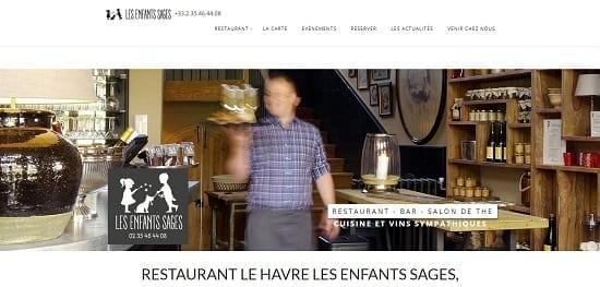 Image d'un site de restaurant: Les enfants sages le Havre