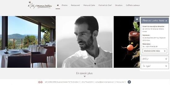 Image d'un site de restaurant: Les Morainières Jongieux