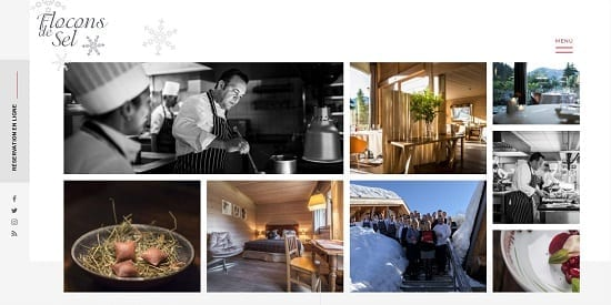 Image d'un site de restaurant: Flocon de Sel Genève