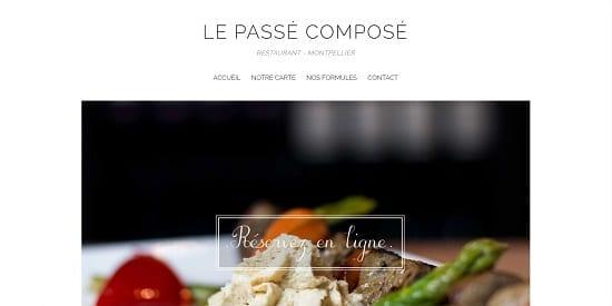 Image d'un site de restaurant: Passé composé à Montpellier