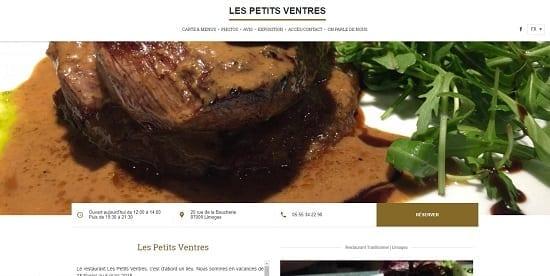 Image d'un site de restaurant: Restaurant les petits ventres Limoges