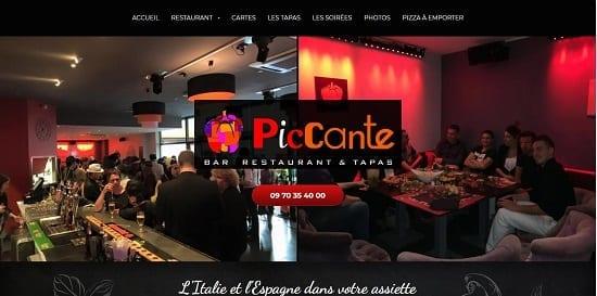 Image d'un site de restaurant: Piccante restaurant à Tapas Bougoin Jallieu