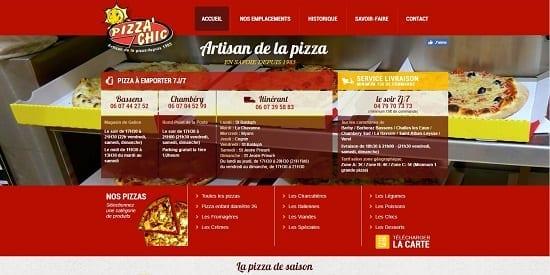 Image d'un site web du restaurant: Pizza Chic Chambery