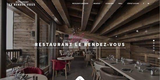 Image d'un site web de restaurant: Le Renez-vous Val Thorens