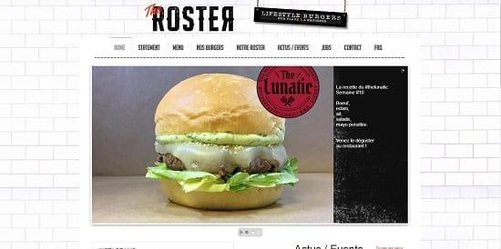 Image d'un site web de restaurant: The Rooster Burger Annecy