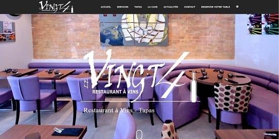 Image d'un site de restaurant: Restaurant le Vingt4 à Nice