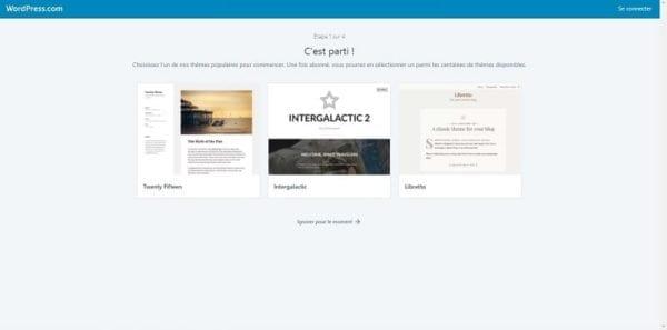 Plateforme de blog en ligne gratuit WordPress.com
