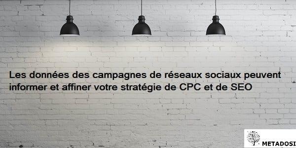 Une déclaration sur l'utilisation des données de réseaux sociaux dans une stratégie de SEO et de liens sponsorisés