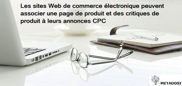 Une déclaration sur les fonctionnalités des annonces CPC pour le commerce électronique