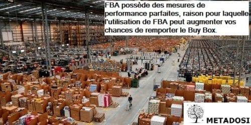 FBA possède des mesures de performance parfaites, raison pour laquelle l'utilisation de FBA peut augmenter vos chances de remporter le Buy Box.