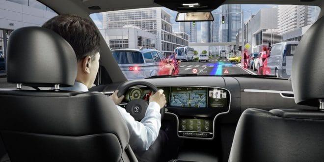 Réalité augmentée dans une voiture