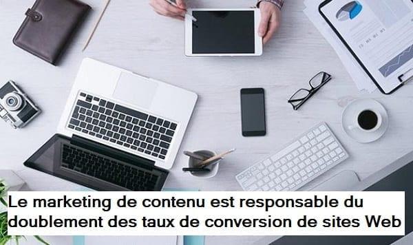 Les taux de conversion moyens du marketing de contenu