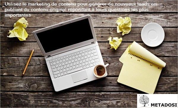 Le marketing de contenu pour générer des leads