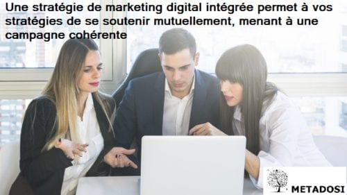 Une déclaration sur l'intégration du marketing digital, une tendance du marketing digitale en 2019