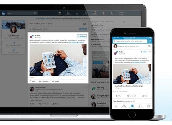 Comment faire de la publicité sur Linkedin avec du contenu sponsorisé