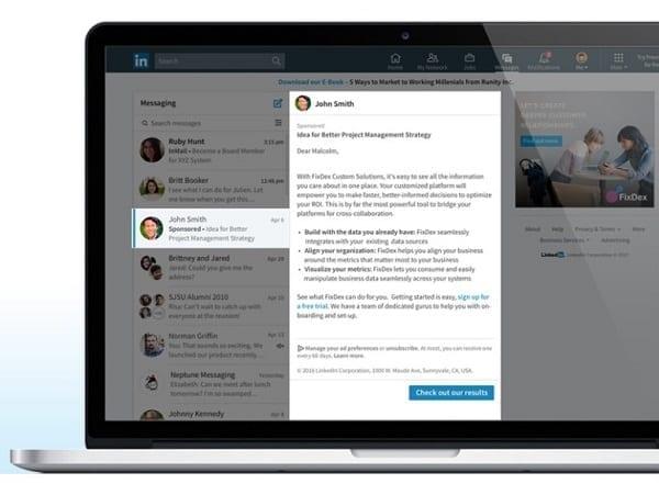 Comment faire de la publicité sur Linkedin avec une annonce inmail sponsorisée