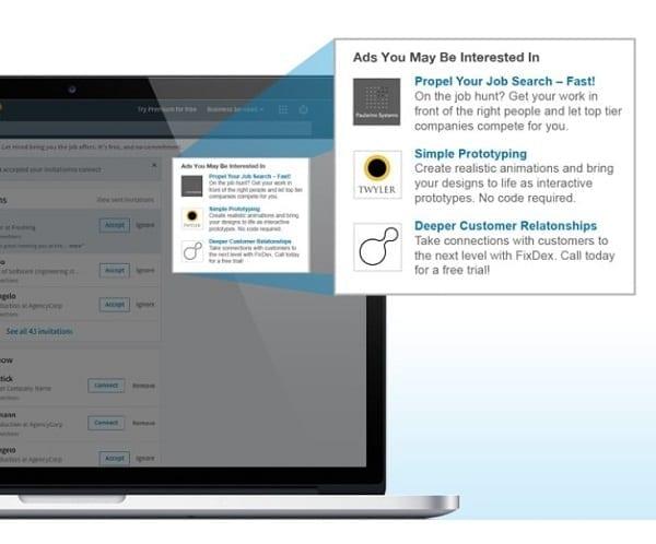 Comment faire de la publicité sur Linkedin avec une annonce standard et du texte