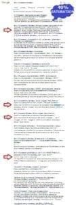 Saturation des moteurs de recherche SEO